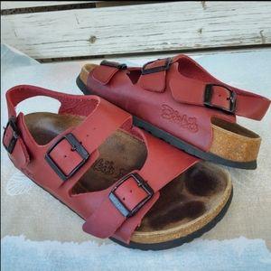 Birkenstock Birki's Fussbett Leather Sandals Sz 37